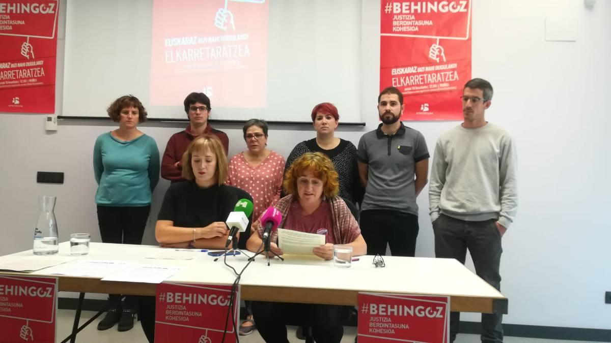 Gehiengo sindikalak dei egin du Kontseiluak larunbaterako antolatu duen elkarretaratzean parte hartzera