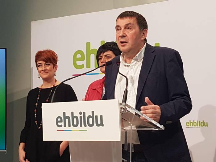 ERCrekin batera aurkeztuko da EH Bildu Espainako Kongresura