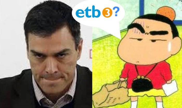 Pedro Sanchez, zer eginen duzu ETB3 eta Gaztea Irratiarekin?