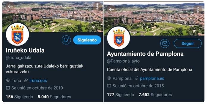 Babes zabala jaso du Iruñeko Udalaren euskarazko Twitter kontua jarraitzeko kanpainak