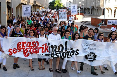 Eraso matxisten aurkako manifestazioa eginen dute gaur Barañainen