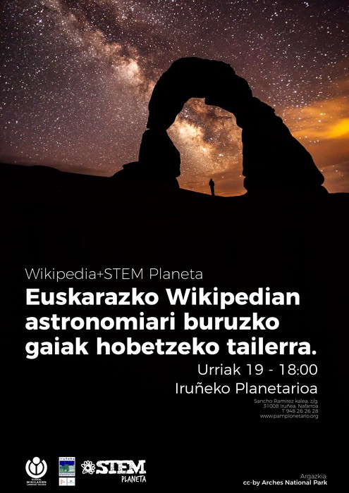 Euskarazko Wikipedian astronomiari lotutako gaiak hobetzeko zikloa, Iruñeko Planetarioan