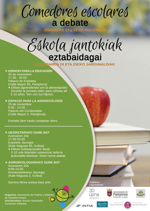 Eskolako Jantokien inguruko jardunaldiak Iruñean (azaroak 24-25)