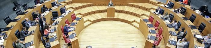 Europar Batasunaren bandera parlamentutik kentzeko eskatu dute Geroa Baik, EH Bilduk, Ahal Duguk eta Ezkerrak