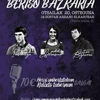 Bertso bazkaria: Aitor Irastortza, Maddi Sarasua eta Aitor Bizkarra