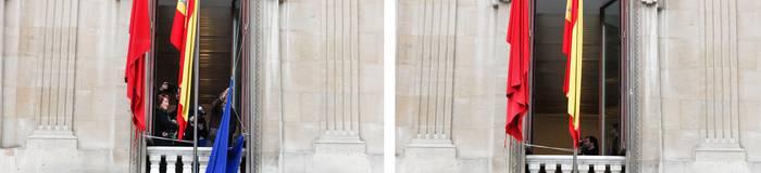 Europar Batasunaren bandera jarriko du berriz parlamentuak