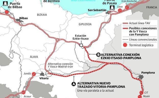 Sakana zeharkatuko du AHTk Nafarroa Euskal Y-arekin lotzeko