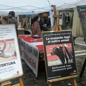 Zezenketarik gabeko sanferminen alde, protesta