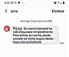 Bankuko datuetara sartzeko SMS bidezko iruzur baten berri eman dute
