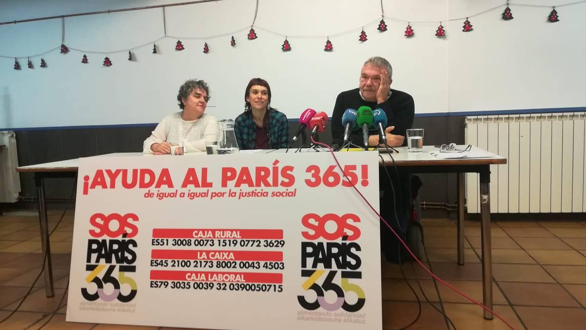 Paris 365 jantoki solidarioa ixteko arriskuan dago, ekonomia arazoengatik