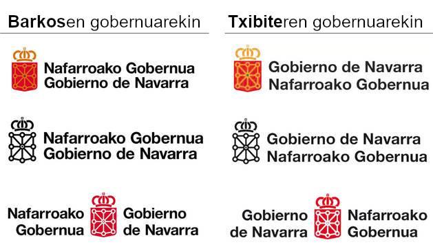 Nafarroako Gobernuaren logotipoa aldatuko dute, gaztelania euskararen aurretik jartzeko