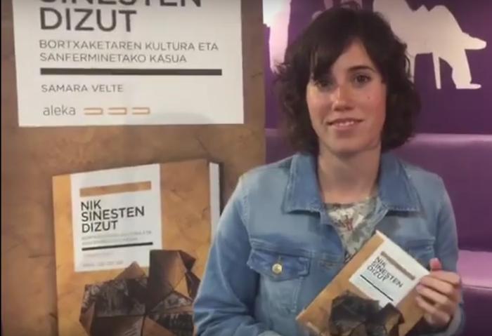 'Nik sinesten dizut', liburua aurkeztuko du Samara Veltek Karrikirin