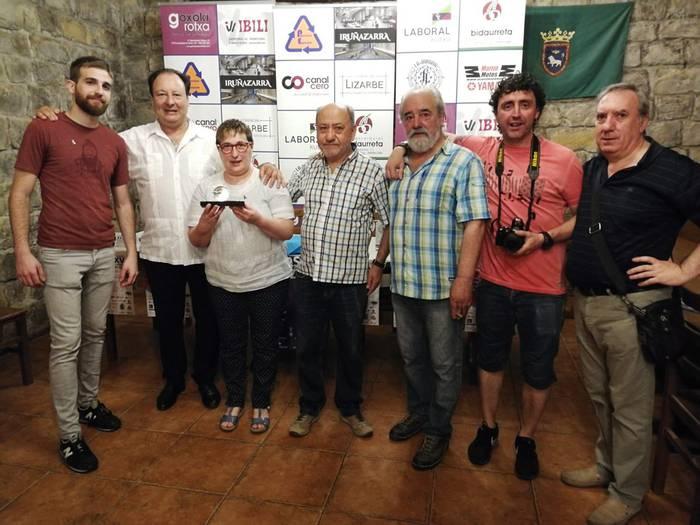 Martxela Abarzuzak jaso du 2018ko Jaranaren 'Bombo' saria