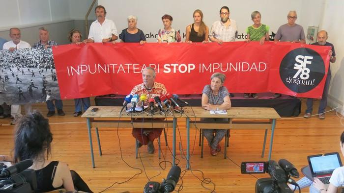 Polizia ikerketa adierazpen askatasunaren kontrako erasoa dela esan du Sanfermines78 gogoan Plataformak