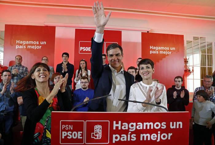 Pedro Sanchez izanen da gaur Nafarroa Arenan