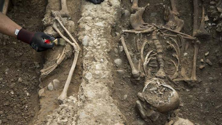 San Frantzisko komentuari lotutako Erdi Aroko ehorzketak aurkitu dituzte Basotxoan