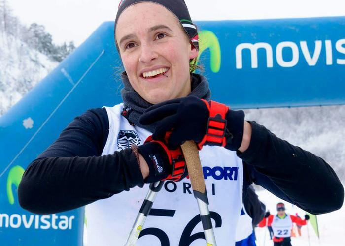 Enara Oronoz, neguko triatleta eta telebistako izarra