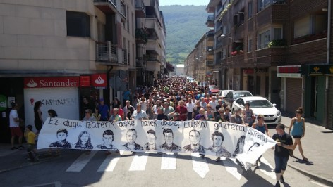 Altsasuko gazteen sakabanaketa salatu dute manifestazioan