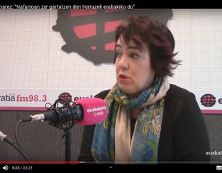 """Ainhoa Aznarez: """"Nafarroako Gobernuaren urgentziazko bilera eskatu dugu epaiaren aurrean erantzuteko"""""""