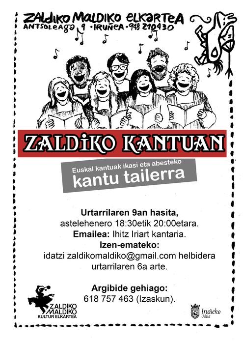 """""""Zaldiko Kantuan"""" Kantu Tailerra"""