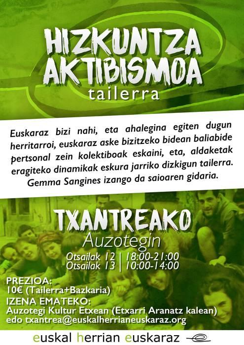 """""""Hizkuntza aktibismoa"""" tailerra"""