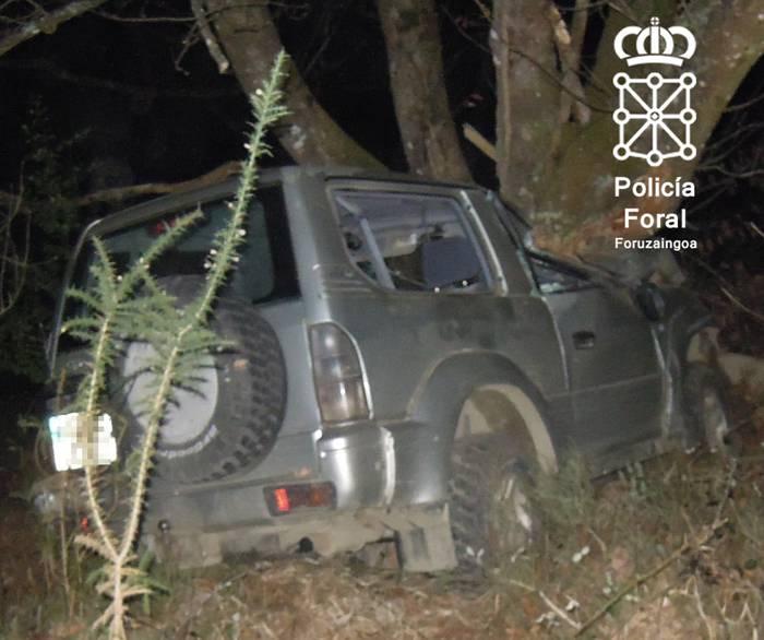 Hamaika pertsona zendu dira aurten auto istripuz Nafarroan