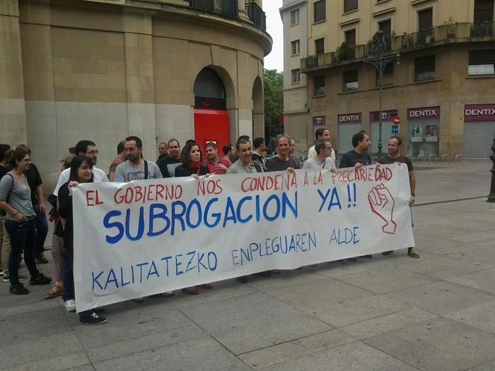 Subrogazioa eskatu dute Nafarroako Gobernuak azpikontratutaturiko informatikariek