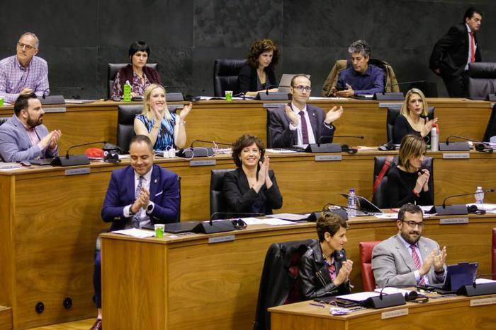Parlamentuak aurrekontuak onartu ditu