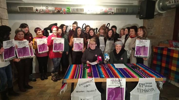Martxoaren 8an greba feminista egiteko deialdia zabaldu du Nafarroako Koordinakundeak