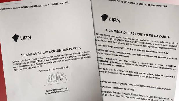 UPNren obsesioa euskararekiko: zenbat galdera planteatu dira parlamentuan euskaraz?