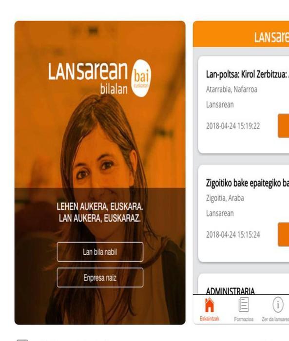 Abian da 'Lansarean App': lan aukera euskaraz izatea errazten duen aplikazioa