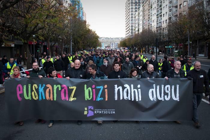Kontseiluak bat egin du larunbateko manifestazioarekin
