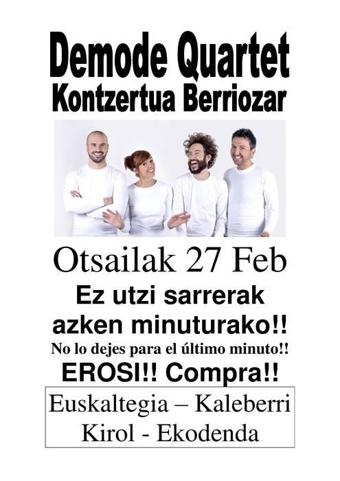 Demode Quartet Berriozarren