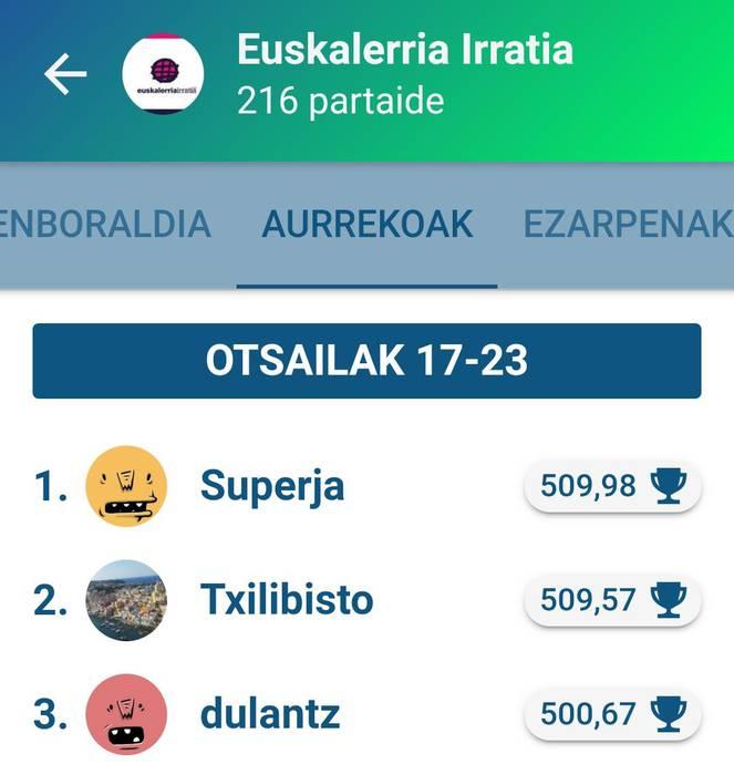 Superja-k irabazi du Egunean Behin jokoko Euskalerria Irratiko saria