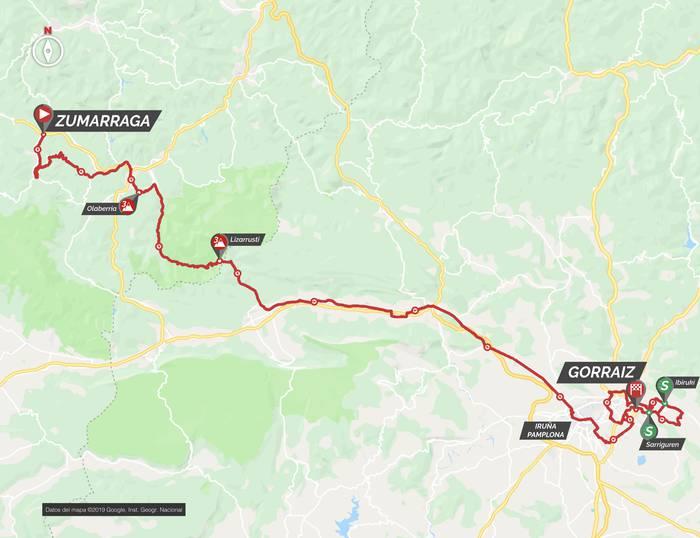 Zumarraga eta Gorraiz lotuko ditu bihar Euskal Herriko Itzuliko bigarren etapak