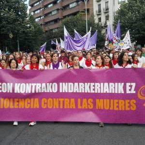 Iruñeak argi du: emakumeenganako erasorik ez da onartuko