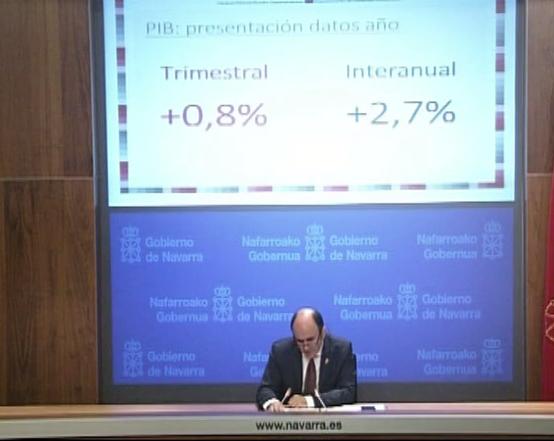 Nafarroako ekonomiak %2,9ko batez besteko hazkundea izan du 2016an