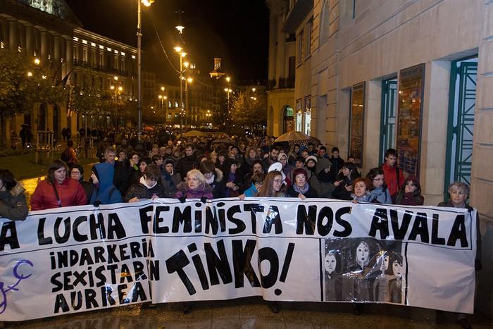 Indarkeria sexistaren aurkako mobilizazioa, argazkitan