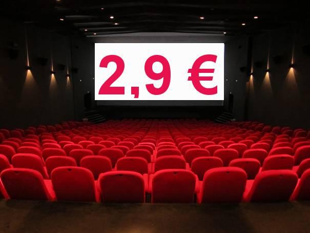 Zinemara joateko aukera 2,90 euroan
