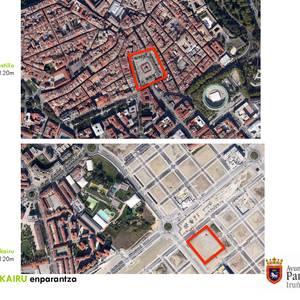 Lezkairu auzoan 13.000 metro koadroko plaza eraikiko dute