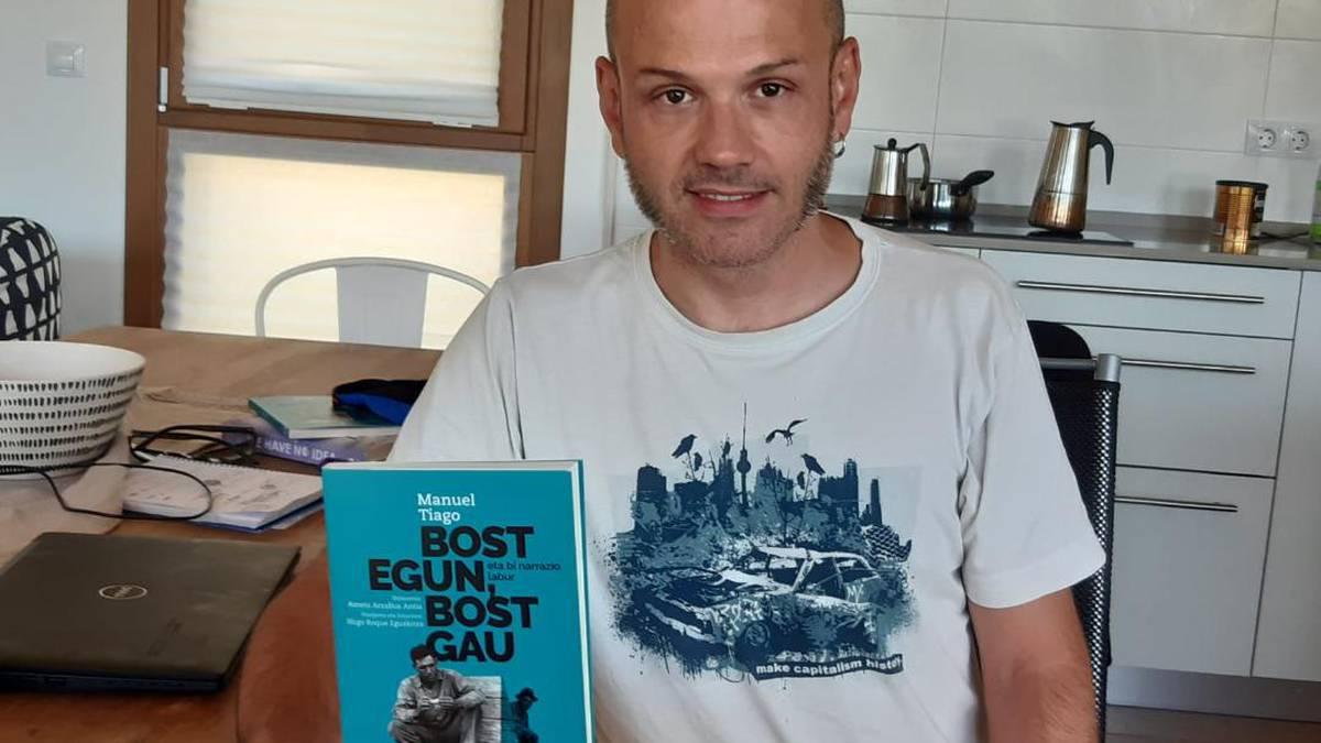 'Bost egun, bost gau' liburuaz solasean Iñigo Roque eta Aitor Etxarte