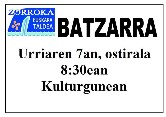 Zorrokaren Batzarra