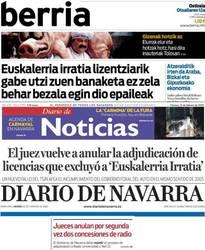 Nafarroako prentsa, aho batez, Gobernuaren bidegabekerien aurka