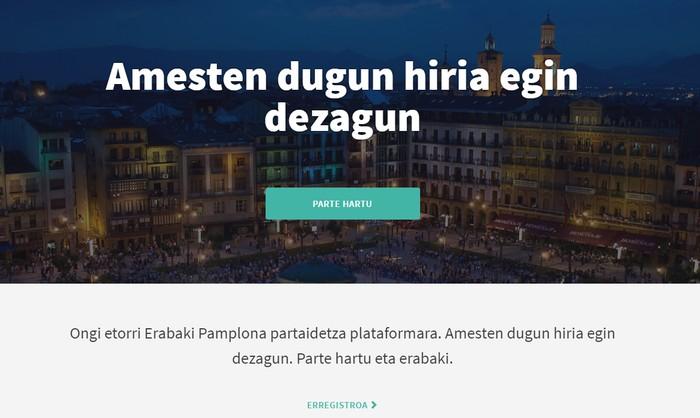 'Erabaki pamplona' webgunea aurkeztu du udalak parte hartzea sustatzeko